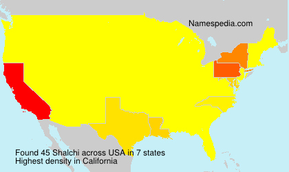 Surname Shalchi in USA