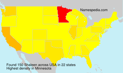 Familiennamen Shaleen - USA