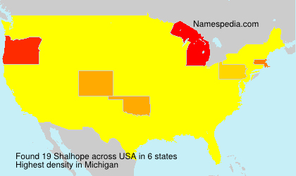 Surname Shalhope in USA