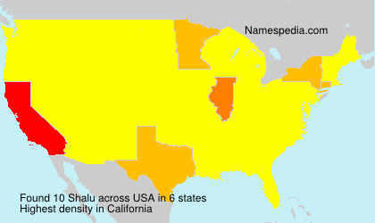 Surname Shalu in USA