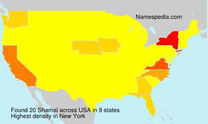 Surname Shamal in USA