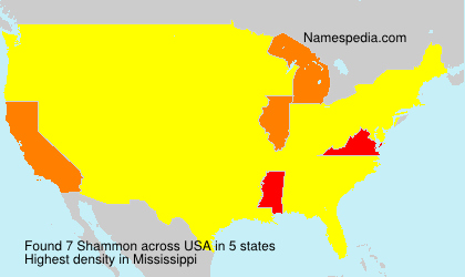 Surname Shammon in USA