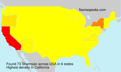 Surname Shamsian in USA