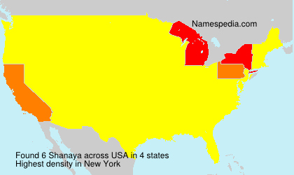 Surname Shanaya in USA