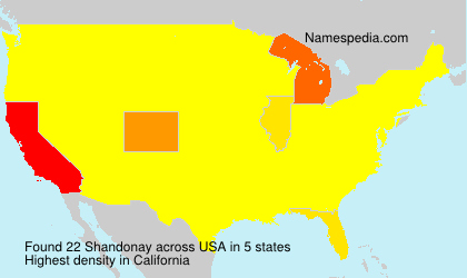 Surname Shandonay in USA