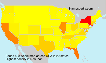 Surname Shankman in USA