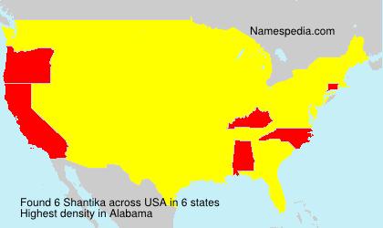 Surname Shantika in USA