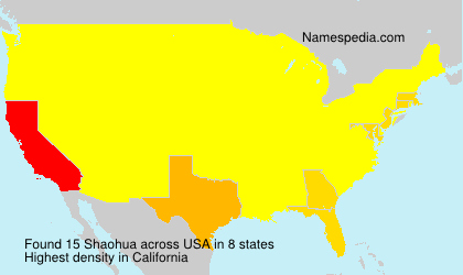 Surname Shaohua in USA