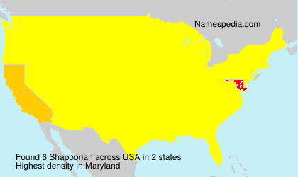 Surname Shapoorian in USA