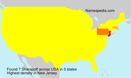 Surname Sharapoff in USA