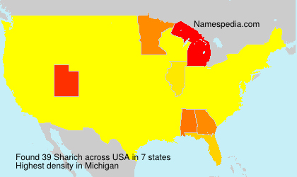 Surname Sharich in USA