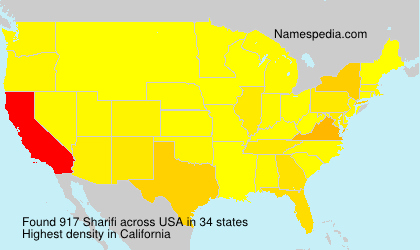 Surname Sharifi in USA
