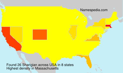 Surname Sharigian in USA