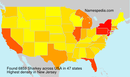 Surname Sharkey in USA
