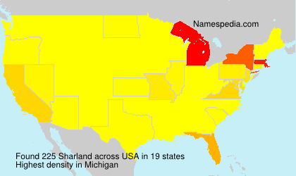 Surname Sharland in USA