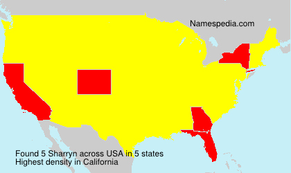 Surname Sharryn in USA