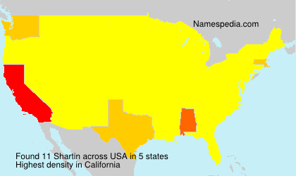 Surname Shartin in USA