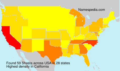 Surname Shasta in USA