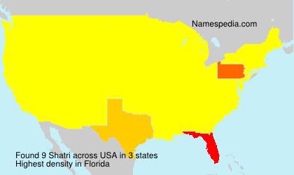 Surname Shatri in USA