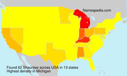 Familiennamen Shauntee - USA