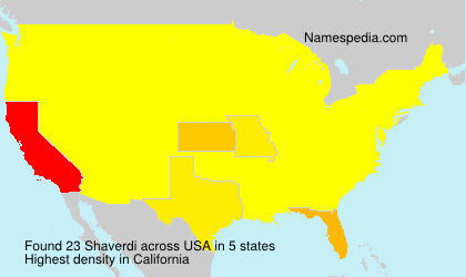 Surname Shaverdi in USA