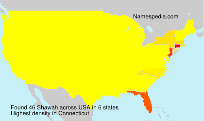 Surname Shawah in USA