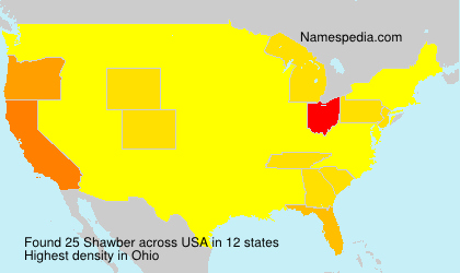 Surname Shawber in USA