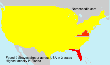 Surname Shayestehpour in USA