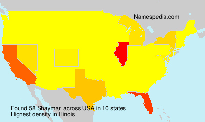Surname Shayman in USA