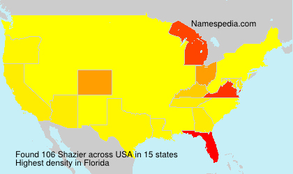 Surname Shazier in USA