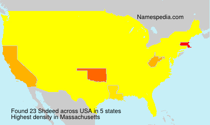 Surname Shdeed in USA