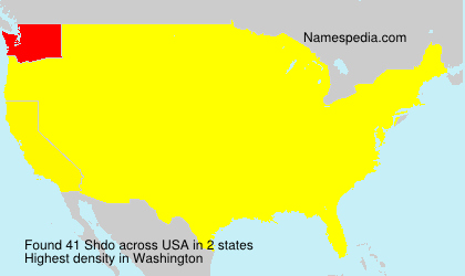 Surname Shdo in USA