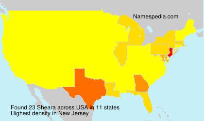 Familiennamen Sheara - USA