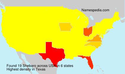 Surname Shebaro in USA
