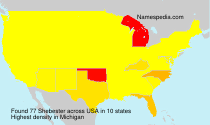 Surname Shebester in USA