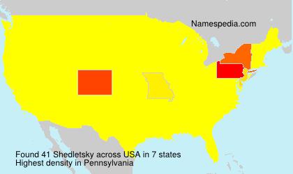 Surname Shedletsky in USA