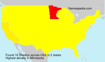 Surname Shedlov in USA