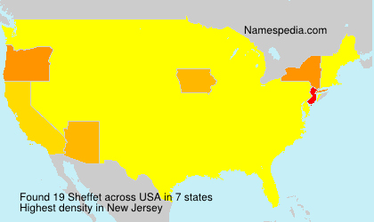 Surname Sheffet in USA