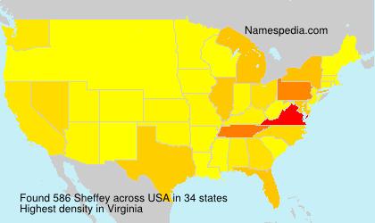 Surname Sheffey in USA