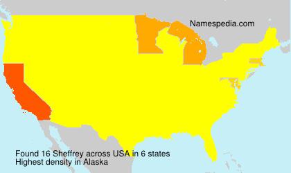 Surname Sheffrey in USA