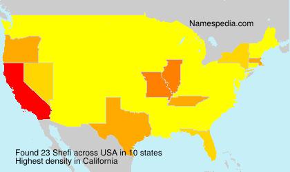 Surname Shefi in USA