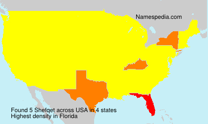 Surname Shefqet in USA
