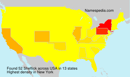 Familiennamen Sheftick - USA