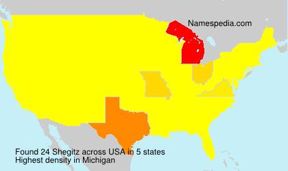 Familiennamen Shegitz - USA
