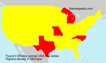 Surname Sheiley in USA