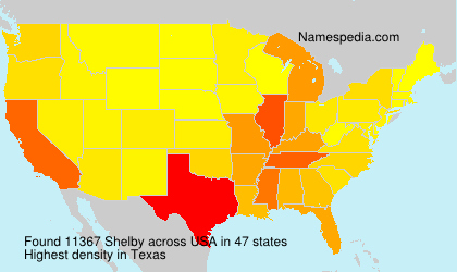 Surname Shelby in USA