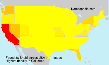 Surname Sheld in USA