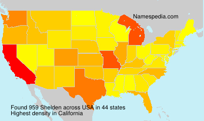 Surname Shelden in USA
