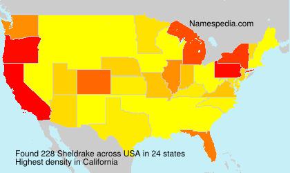 Surname Sheldrake in USA