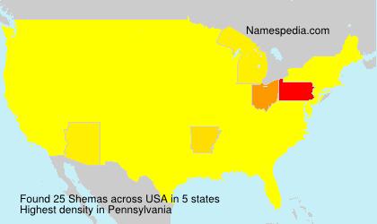 Surname Shemas in USA